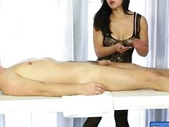 Oriental masseuse blowjobs...