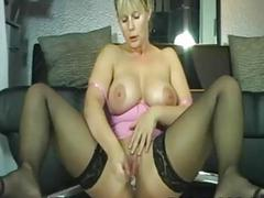 Busty Milf In Stockings Wet Squirt