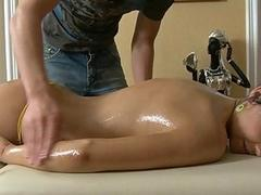 Sensual oil massage makes...
