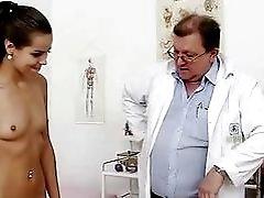 Petite latina Ferrara Gomez pussy checkup up close