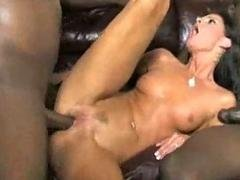 Wife takes three black cocks